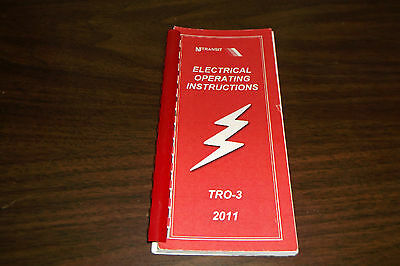 2011 Njt New Jersey Transit Rail Tro-3 Electrical Operating Instructions
