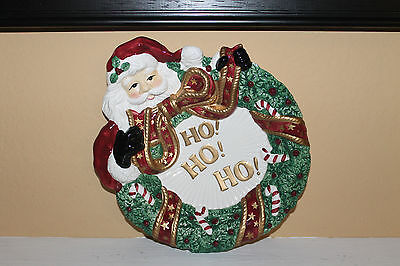 Cute Collectible Fitz and Floyd Essentials Canape Santa Plate For Cookies!!