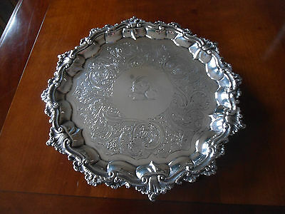 1835 Georgian London Solid Silver Salver/joseph Wilson