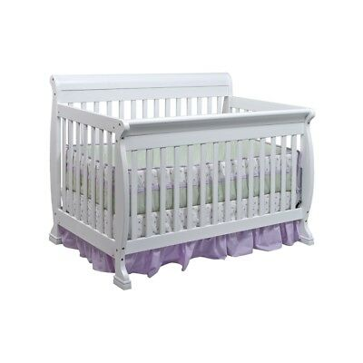 DaVinci Kalani 4-in-1 Convertible Crib in White w/ Toddler Rail M5501W