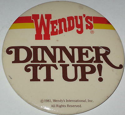 "Wendy's ""Dinner Up!"" Employee Pin 3"" Has Spots"
