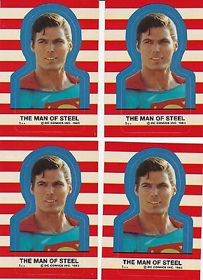 1983 TOPPS SUPERMAN STICKER SETS- LOT OF 4 SETS -22 STICKERS EACH SET-SERIES 3