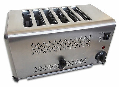 Brand New Commercial 6 Slot Electric Toaster with Timer, Stainless Steel