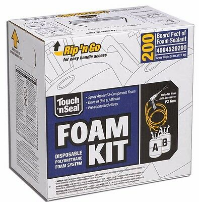 Touch 'n Seal U2-200 Closed Cell Spray Foam Insulation Kit - 4004520200