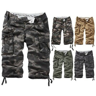 SURPLUS™ Raw Vintage ★ TROOPER LEGEND 3/4 Shorts Rider Urban Walk Army Military