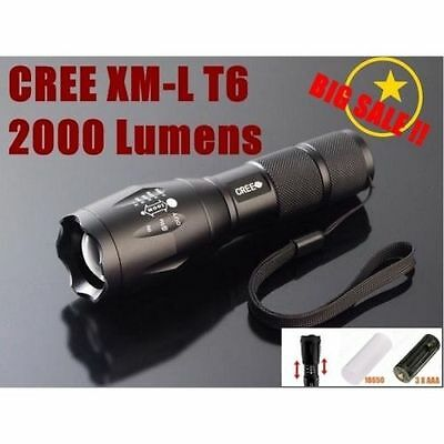 ULTRAFIRE A100 CREE XM-L T6 2000 LUMENS HIGH POWER TORCH ZOOMABLE LED FLASHLIGHT