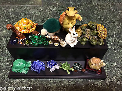 Collectible Turtles Auction Lot (with a few Bunnies), all types, Wood Jade Glass