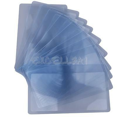 Portable 3X Magnifier Fresnel Lens Full Page Magnifying Large Sheet 10Pcs