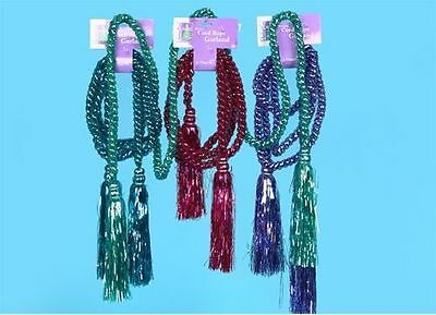2.75m Pastel Rope Garland w/Tassles 4ass colours (PM13)