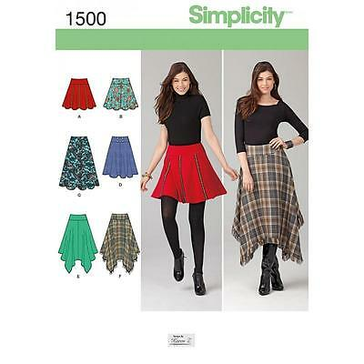 Simplicity Sewing Pattern Misses' Skirts Length Variations  Size 6 - 22 1500