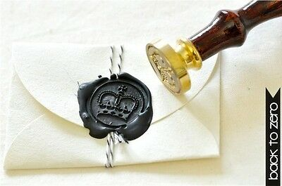 Royal Crown King Queen Wax Seal Stamp & 2 Wicked Sealing Wax Sticks