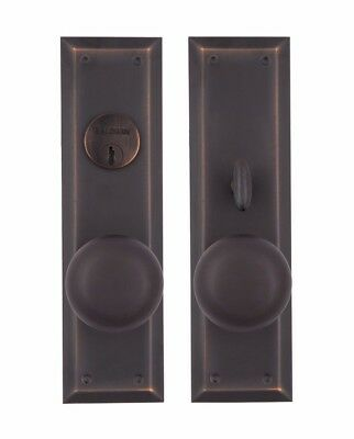 NY Entry Set solid bronze oil rubbed bronze