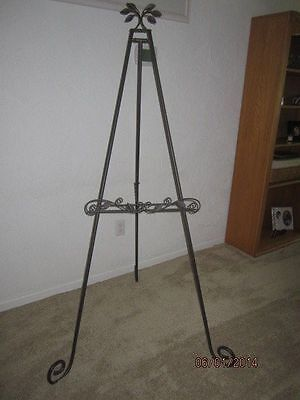 Longaberger Wrought Iron Bronze Leaf Large Floor Easel #71556 NEW IN BOX