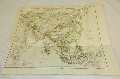 1875 Antique COLOR Map/ ASIA, 15x19""