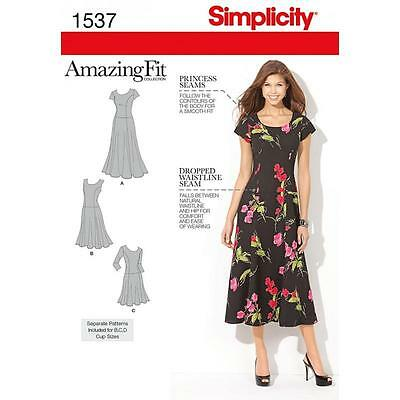 Simplicity Sewing Pattern Misses' / Women's Dress 2 Lengths Size 10 - 28W 1537