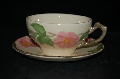 2 - Franciscan Desert Rose England Cup and Saucer #4 - Set of 2