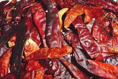 Chili Peppers, Red, Whole, Dried - Use in potpourri, wreaths, swags - 6-4-2-1oz
