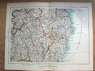 1894 Antique Map - KINGS COUNTY Queens TIPPERARY Wexford Ireland etc. - #24
