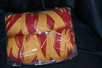 Mill End Yarn 11 oz/Red / Gold/ Variegated/4- Weight/Acrylic/Plain 3/31/9