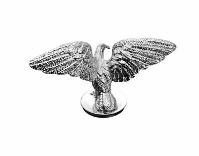 Open Winged Eagle Chrome Statue Fender Ornament Mascot Highway Hawk 02-075