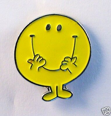 Mr Happy style enamel pin / lapel badge