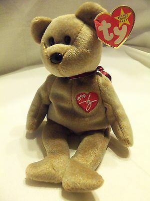 TY Beanie Babies 1999 Teddy Bear ** SIGNATURE **  New w/ Tag