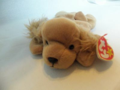 TY Beanie Babies Cocker Spaniel Puppy ** SPUNKY ** 5th Generation New w/ Tag
