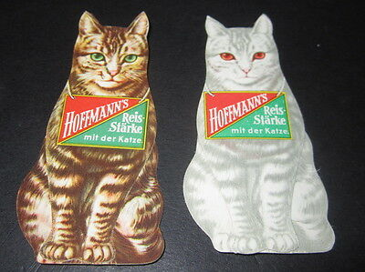 Set of 2 Old Vintage 1930's Cardboard Diecuts Standup CAT Starch - CATS