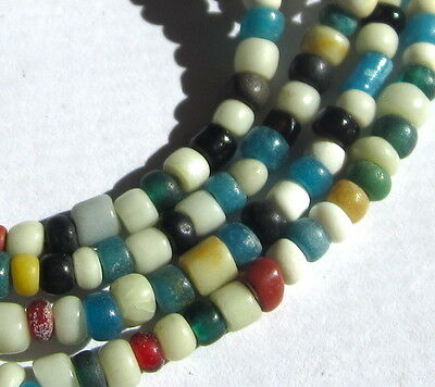 "25 1/2"" Strand Of Rare Old/ancient Tiny/small Mixed Columbia River Trade Beads"