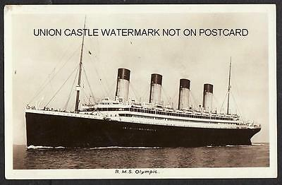 Uncommon Original Real Photo Postcard White Star Line Rms Olympic Titanic Sister