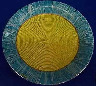 Cool Weave Tropical Green Blue Summer Luau Beach Pool Party Luncheon Napkins