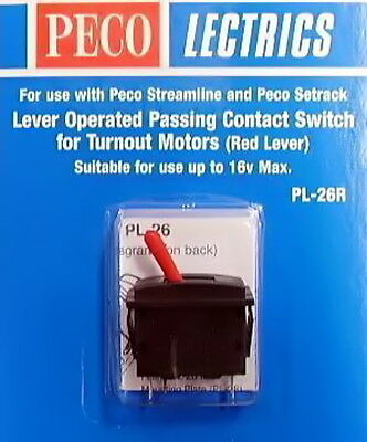 Peco Lectrics Pl26R Lever Operated Passing Contact Switch Red Pepl26R