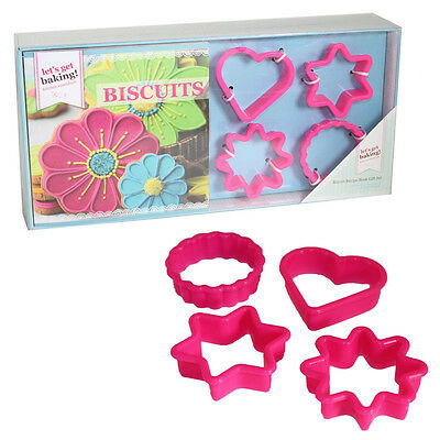 Lets Get Baking Biscuits And Cookies Recipe Book Gift Set With Cutters