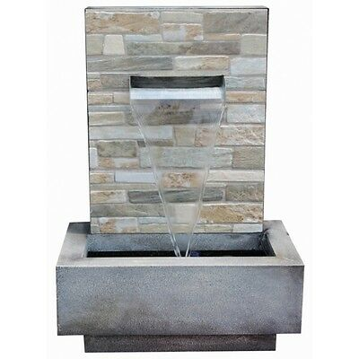 Palermo Falls Zinc Metal & Ceramic Water Feature Water Blade Style