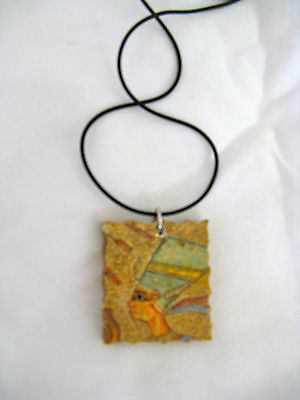 """Egyptian Resin Antique Looking Necklace with Choker Queen Nefertiti Design 18.5"""""""