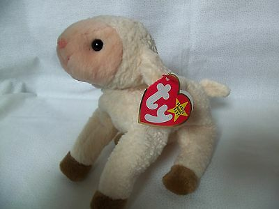 TY Beanie Babies Wooly Lamb  ** EWEY ** 5th Generation New w/ Tag