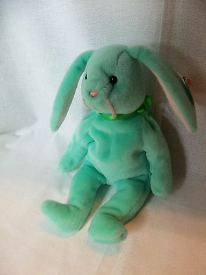 TY Beanie Babies Mint Green Rabbit ** HIPPITY ** 4th Generation New w/ Tag