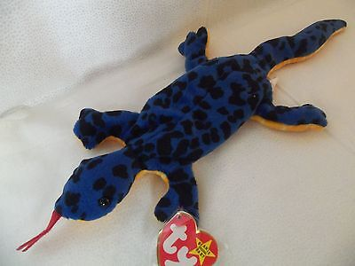 "TY Beanie Babies 13"" Blue Lizard ** LIZZY ** 4th Generation New w/ Tag"