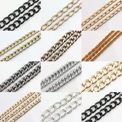 New 1M Gold/Silve/Bronze Aluminum Ring Chain Necklace DIY Jewelry Making 11Style