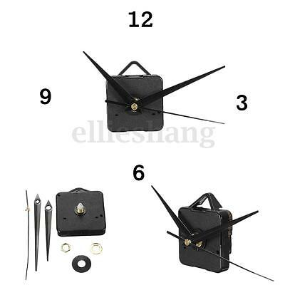 Quartz Clock Movement Mechanism Repair DIY Tool Kit Black Hands Replacement USA