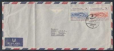 1961 Jordanien Jordan Cover to Germany, Petroleum Refinery [cm380]