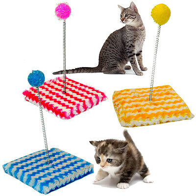 Cat Kitten Kitty Sway Toy Fun Play Pole Ball Activity Soft Post Pet Tease Teaser