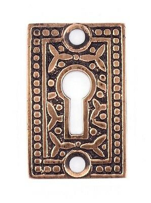 Rice pattern doorknob key escutcheon solid bronze reproduction