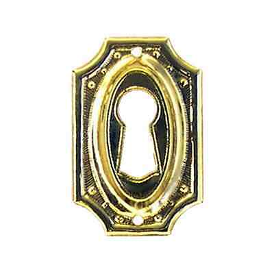 revival wrought brass furniture key hole escutcheon reproduction  BM1217
