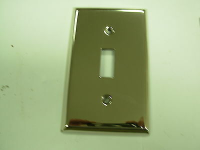polished nickel single toggle switch plate