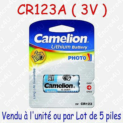 Pile Photo Lithium CR17345 123 CR123A DL123 CR123 EL123AP 3V ( x 1 ou x 5 )