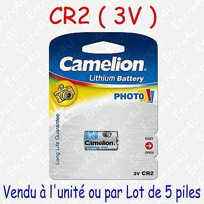 Pile Photo Lithium CR17335 CR2 DLCR2 EL1CR2 3V 3 volts ( disponible par 1 ou 5 )