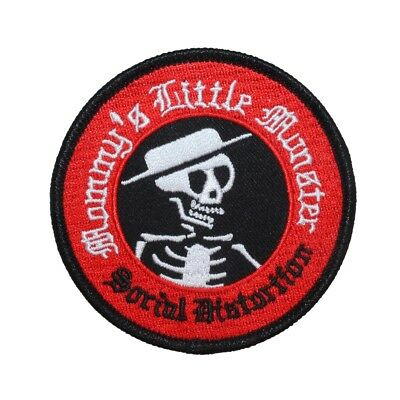 """Social Distortion: Mommy's Little Monster"" Punk Apparel Iron On Applique Patch"
