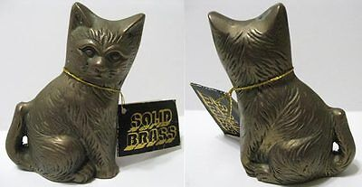 "Vintage Solid Brass - Cat Kitten - 3-7/8"" - NWT New With Tag"