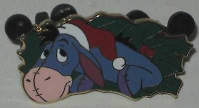 Eeyore Christmas Holly Lapel Pin 1.5""